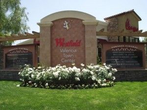 Sign at Westfield Valencia Town Center
