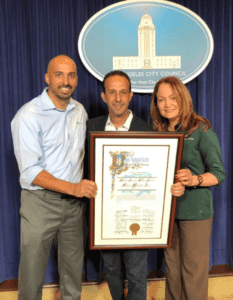 Stay Green Inc. was honored at Van Nuys City Hall on Dec. 1