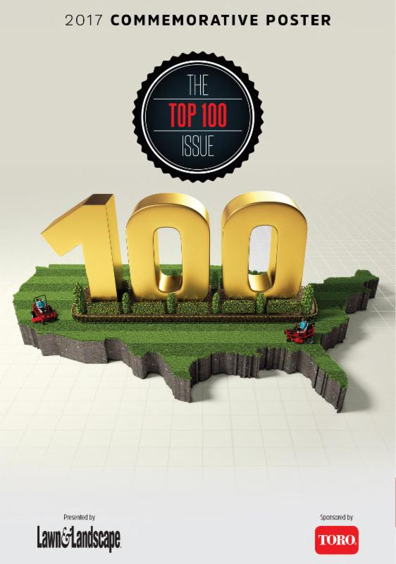 2017 Commemorative Poster for the Top 100 Issue of Lawn & Landscape Magazine