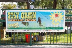 Stay Green Company Picnic sign